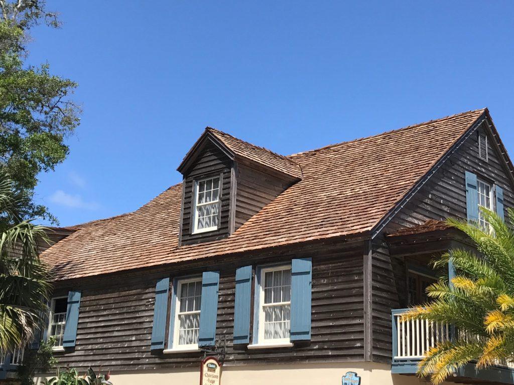 Saint George Street, A to Z, A-z, St. Augustine roof, cedar shake, historic